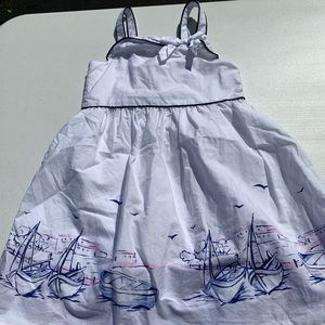 Janie and Jack, size 4, sailing print, dress